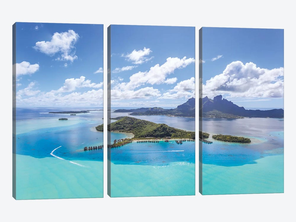 Bora Bora Island, French Polynesia II by Matteo Colombo 3-piece Canvas Print