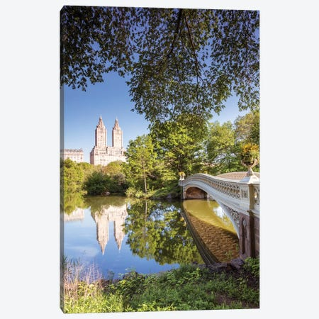 Bow Bridge In Spring, Central Park, New York Canvas Print #TEO121} by Matteo Colombo Art Print