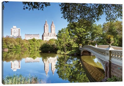 Bow Bridge Panoramic, Central Park, New York Canvas Art Print