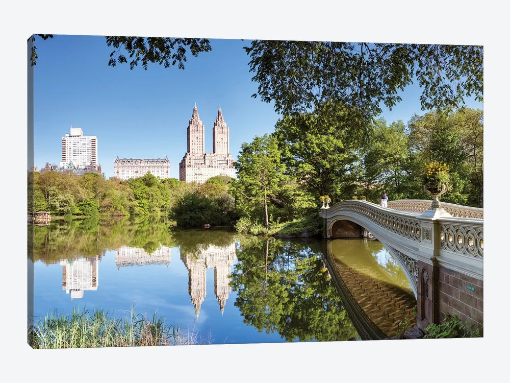 Bow Bridge Panoramic, Central Park, New York by Matteo Colombo 1-piece Canvas Print