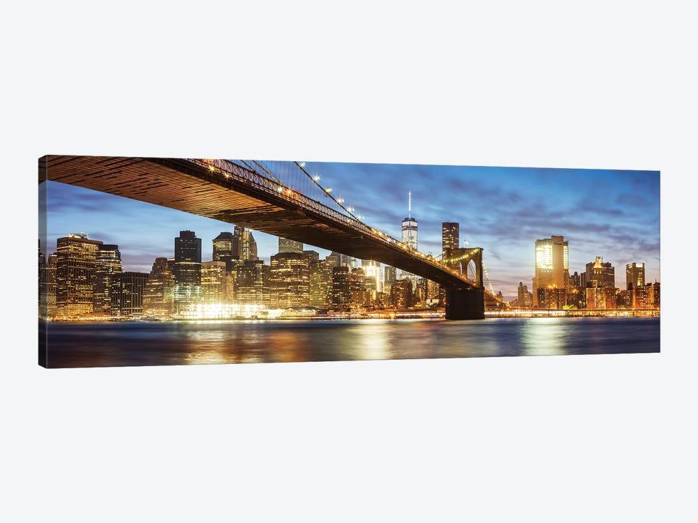 Brooklyn Bridge Panoramic, New York by Matteo Colombo 1-piece Canvas Art