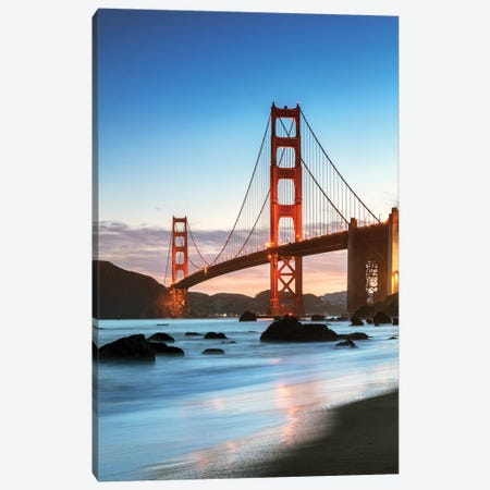 Dawn At The Golden Gate, San Francisco Canvas Print #TEO126} by Matteo Colombo Canvas Art