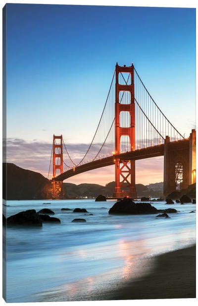 Dawn At The Golden Gate, San Francisco Canvas Art Print