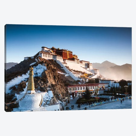 Famous Potala Palace, Lhasa, Tibet 3-Piece Canvas #TEO129} by Matteo Colombo Canvas Art Print