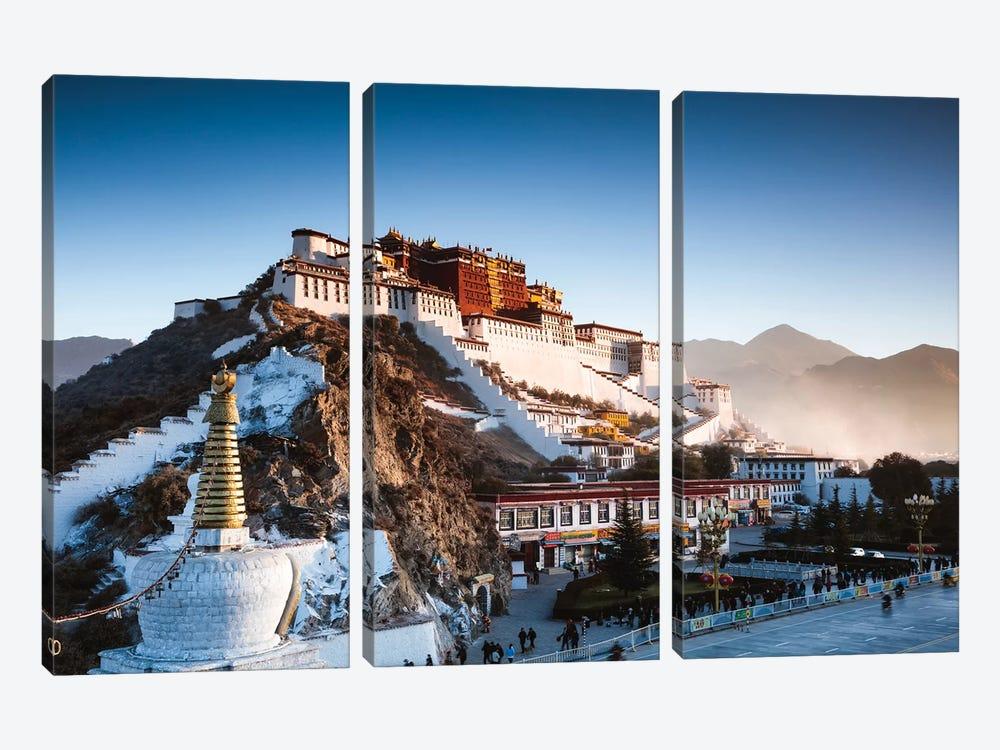 Famous Potala Palace, Lhasa, Tibet by Matteo Colombo 3-piece Canvas Artwork