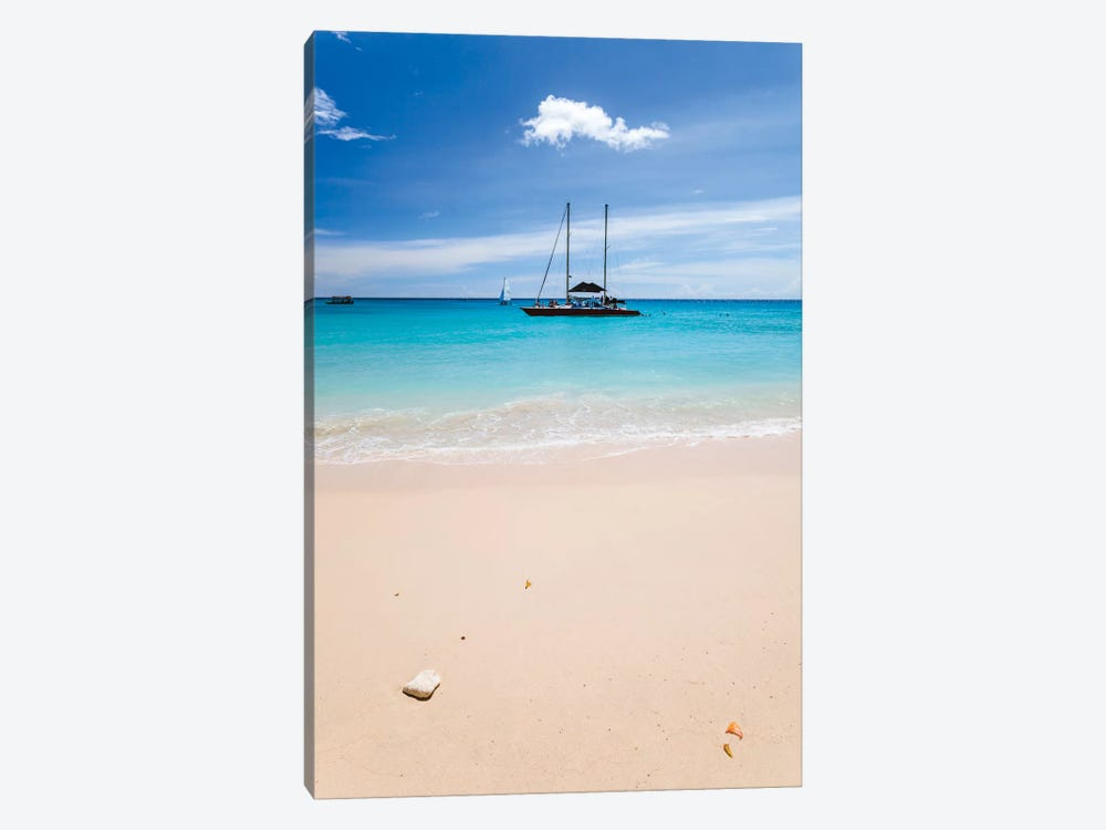Anchored Yacht Off The Coast, Barbados, Lesser Antilles by Matteo Colombo 1-piece Art Print