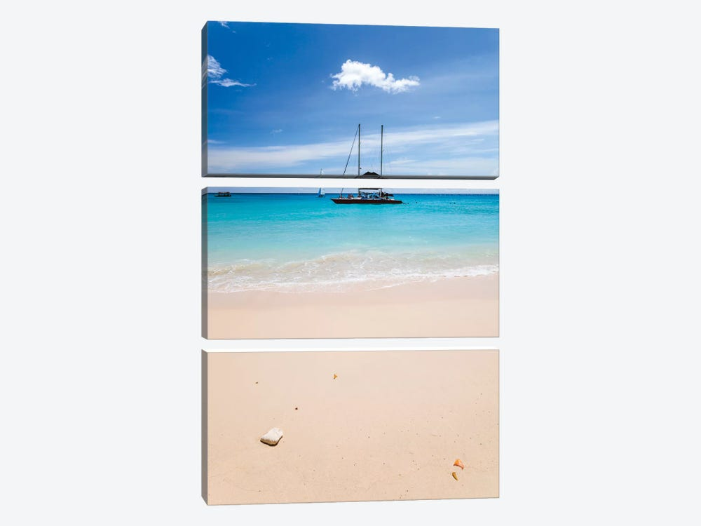 Anchored Yacht Off The Coast, Barbados, Lesser Antilles by Matteo Colombo 3-piece Art Print