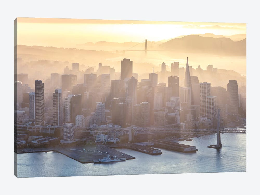 Foggy Sunset Over Downtown San Francisco by Matteo Colombo 1-piece Art Print