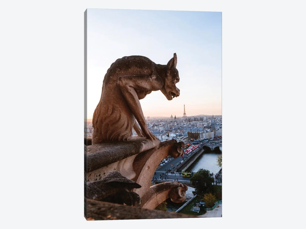 Gargoyle On Notre Dame Cathedral, Paris by Matteo Colombo 1-piece Canvas Art
