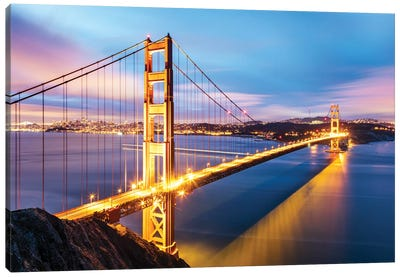 Golden Gate Bridge At Dawn, San Francisco Canvas Art Print