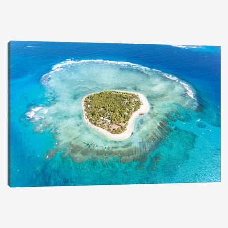 Heart Shaped Island, Mamanucas, Fiji I Canvas Print #TEO134} by Matteo Colombo Art Print