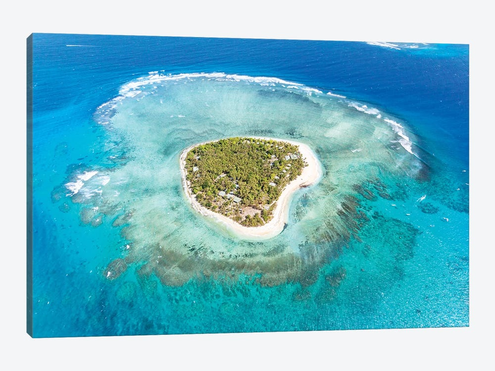 Heart Shaped Island, Mamanucas, Fiji I by Matteo Colombo 1-piece Canvas Wall Art