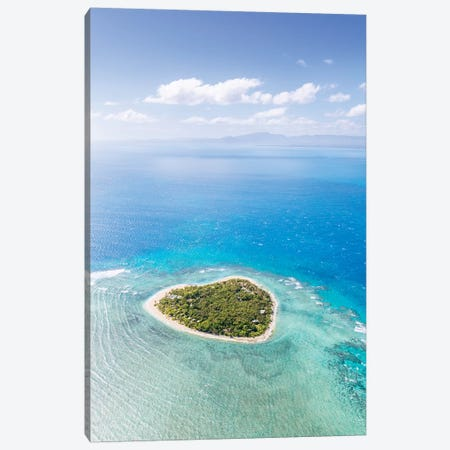 Heart Shaped Island, Mamanucas, Fiji II Canvas Print #TEO135} by Matteo Colombo Canvas Print