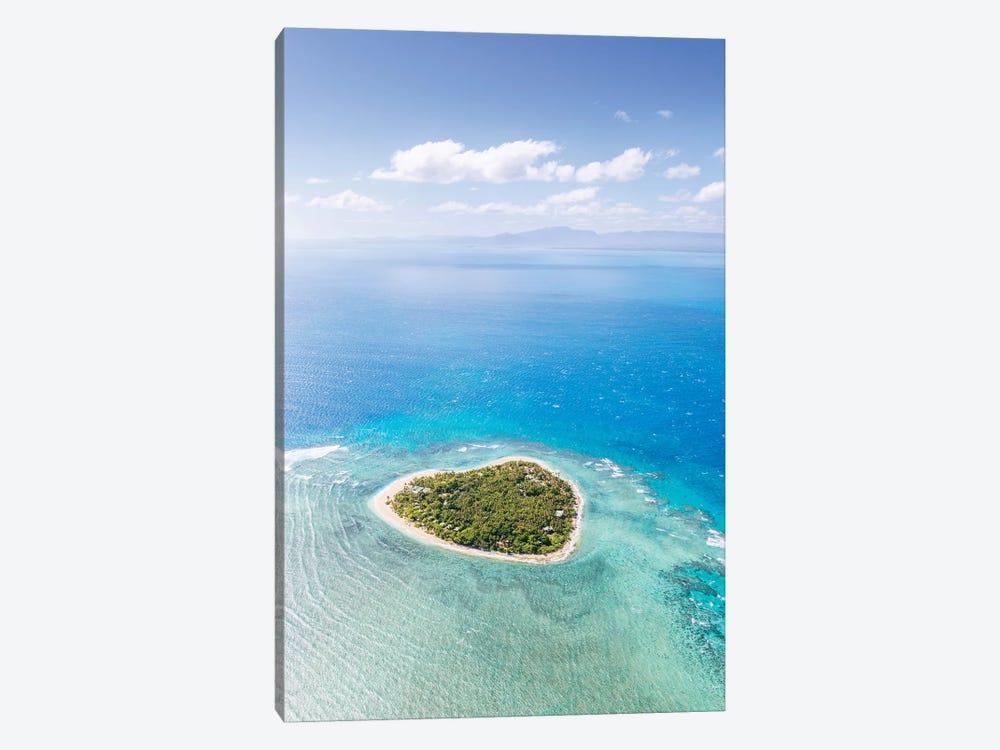 Heart Shaped Island, Mamanucas, Fiji II by Matteo Colombo 1-piece Canvas Art Print