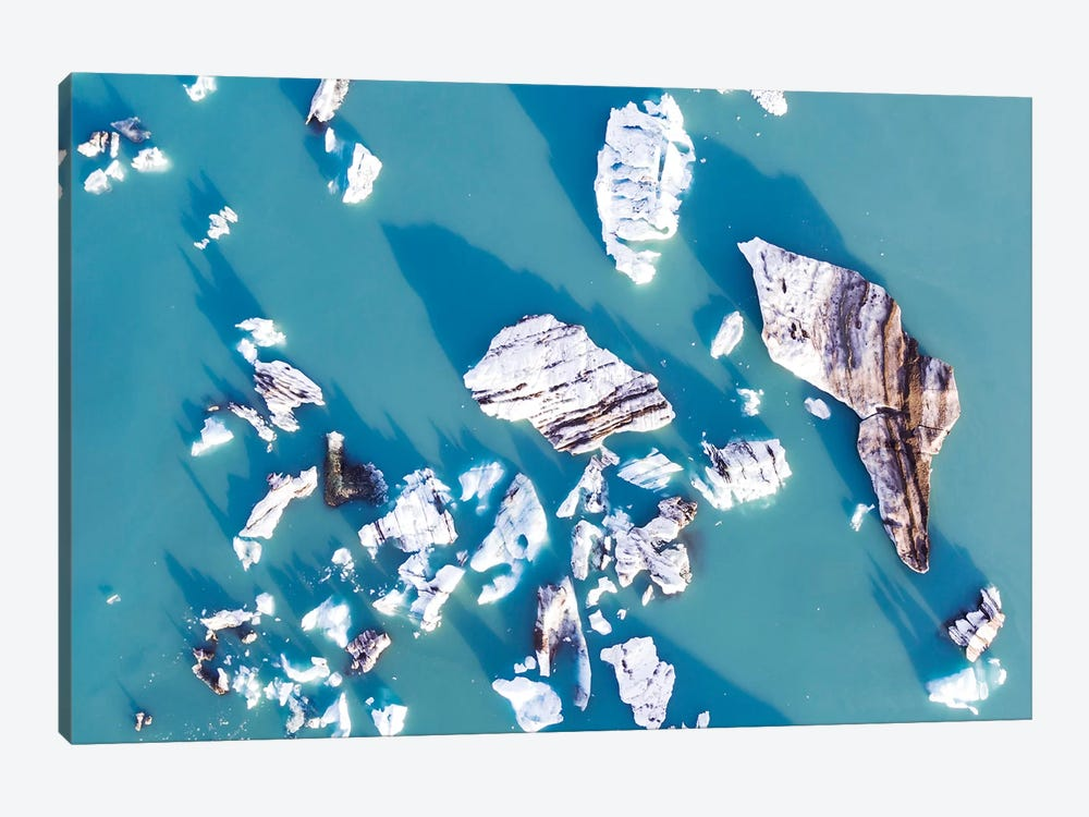Icebergs From The Air, Iceland by Matteo Colombo 1-piece Canvas Artwork