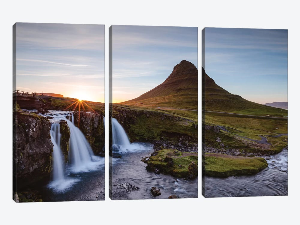Iconic Kirkjufell, Iceland I by Matteo Colombo 3-piece Canvas Art Print