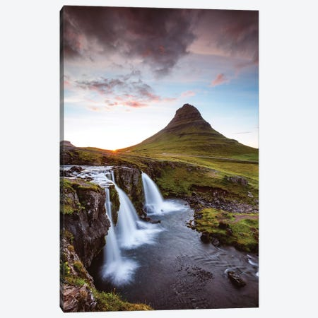 Iconic Kirkjufell, Iceland II Canvas Print #TEO138} by Matteo Colombo Canvas Wall Art