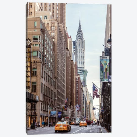 Lexington Avenue And Chrysler Building, New York Canvas Print #TEO140} by Matteo Colombo Art Print