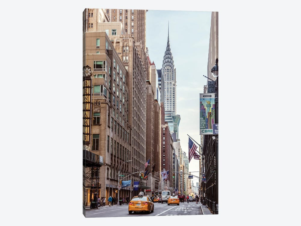 Lexington Avenue And Chrysler Building, New York by Matteo Colombo 1-piece Canvas Print
