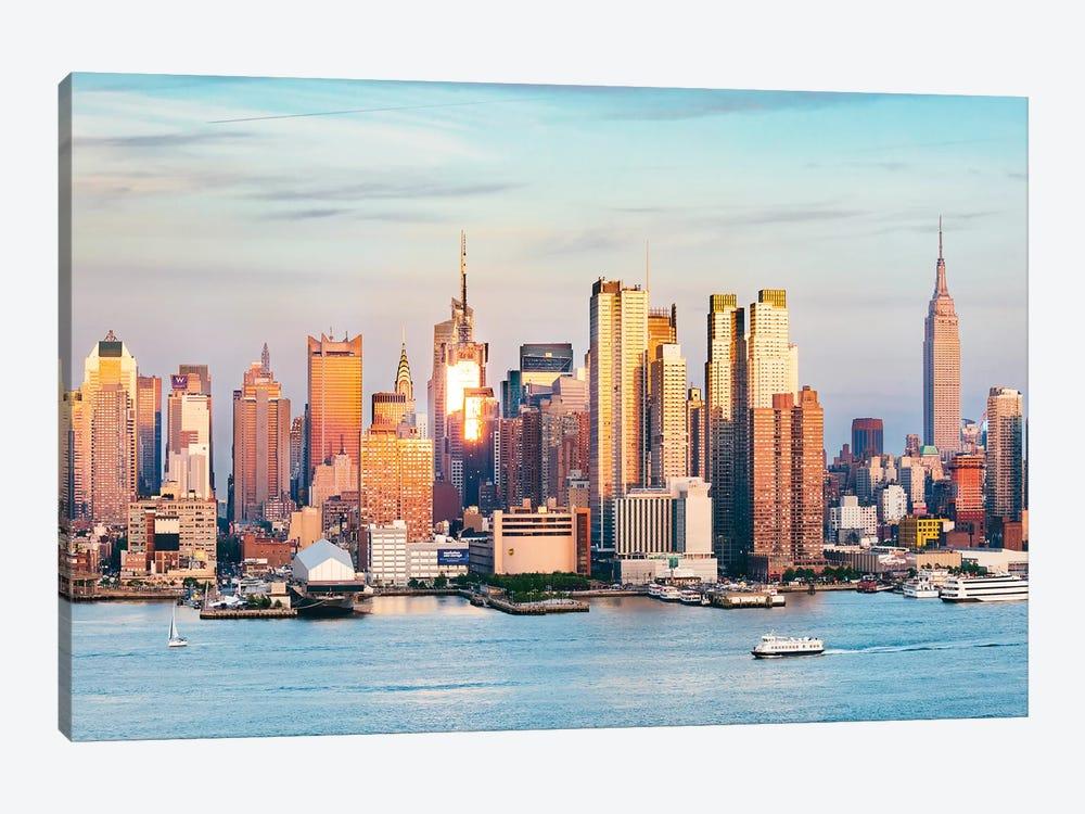 Midtown Manhattan Skyline At Sunset, New York by Matteo Colombo 1-piece Canvas Art