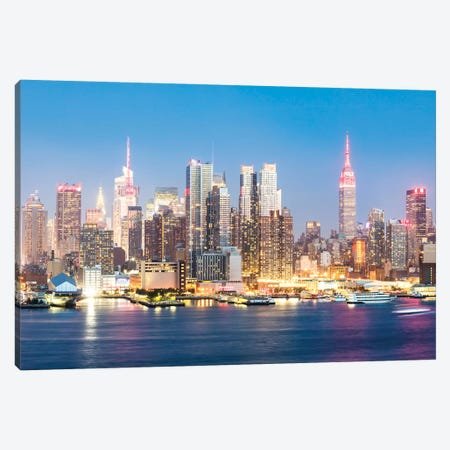 Midtown Manhattan Skyline, New York City Canvas Print #TEO144} by Matteo Colombo Canvas Artwork