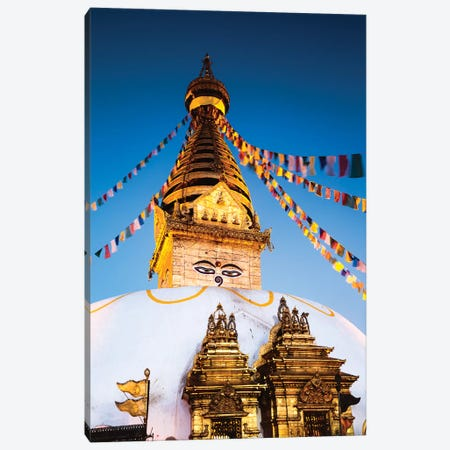 Monkey Temple At Dawn, Kathmandu, Nepal Canvas Print #TEO147} by Matteo Colombo Canvas Art