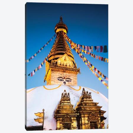 Monkey Temple At Dawn, Kathmandu, Nepal Canvas Print #TEO147} by Matteo Colombo Canvas Art
