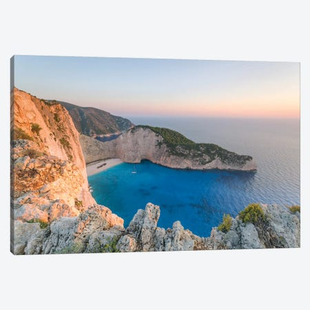 Navagio Shipwreck Beach, Zante, Greece Canvas Print #TEO149} by Matteo Colombo Canvas Art Print