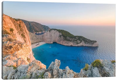 Navagio Shipwreck Beach, Zante, Greece Canvas Art Print
