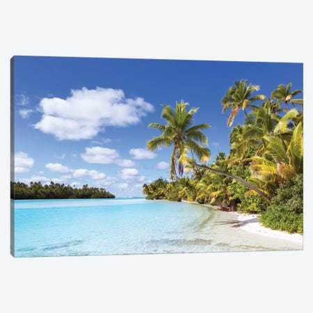 One Foot Island, Aitutaki, Cook Islands I Canvas Print #TEO150} by Matteo Colombo Canvas Wall Art