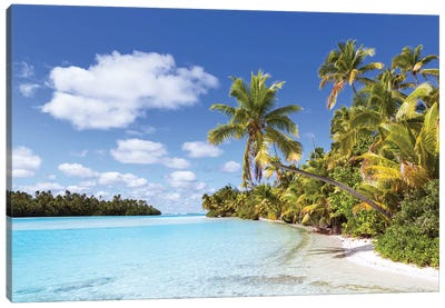 One Foot Island, Aitutaki, Cook Islands I Canvas Art Print