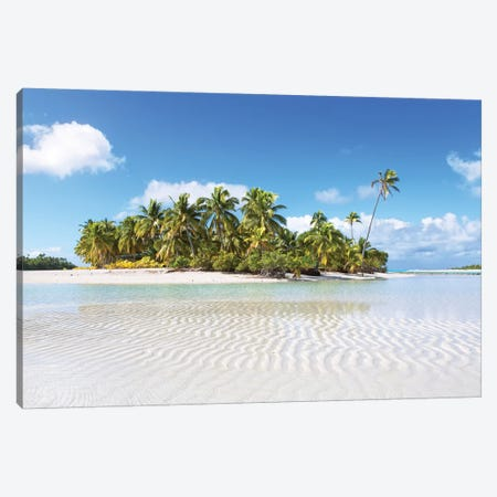 One Foot Island, Aitutaki, Cook Islands II Canvas Print #TEO151} by Matteo Colombo Canvas Wall Art