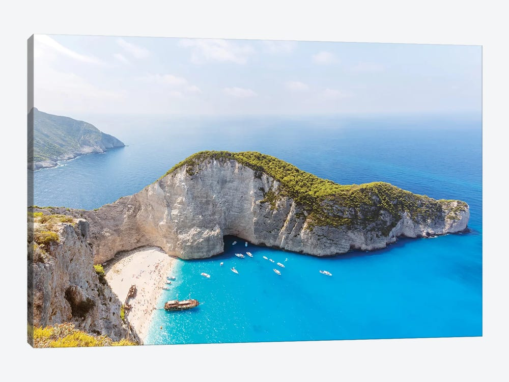 Panoramic Of Shipwreck Beach, Zakynthos, Greece by Matteo Colombo 1-piece Canvas Print