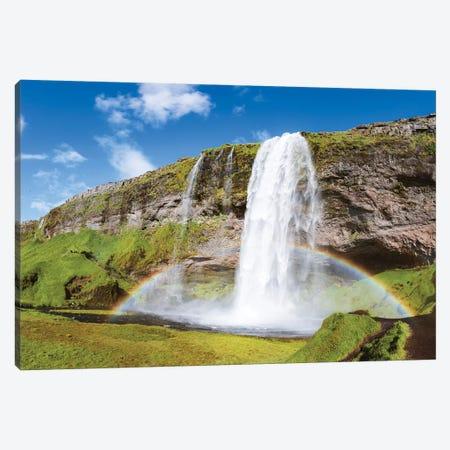 Rainbow At Seljalandsfoss Waterfall, Iceland Canvas Print #TEO157} by Matteo Colombo Art Print