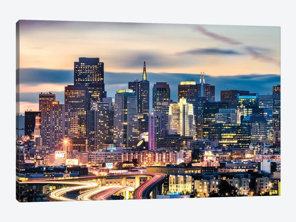 San Francisco Skyline At Night by Matteo Colombo 1-piece Art Print