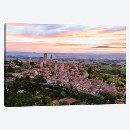 San Gimignano Aerial, Tuscany, Italy Canvas Print #TEO160} by Matteo Colombo Canvas Art Print