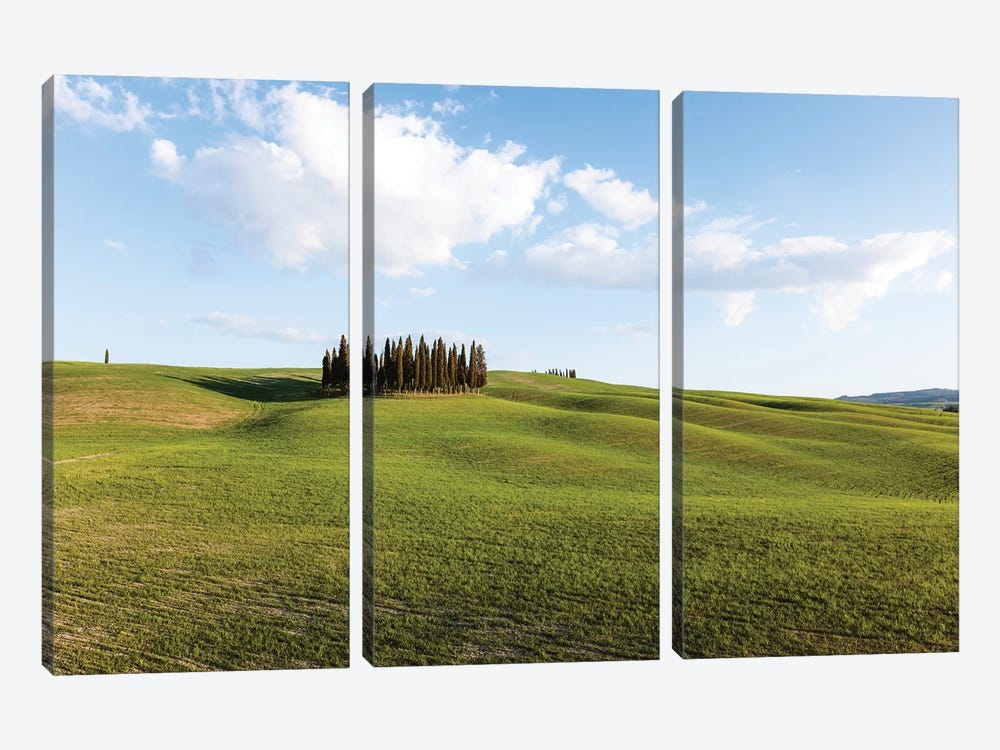 Springtime In Tuscany, Italy by Matteo Colombo 3-piece Canvas Art