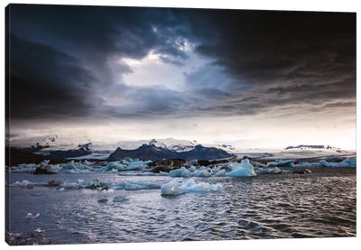 Stormy Weather Over Jokulsarlon, Iceland Canvas Art Print