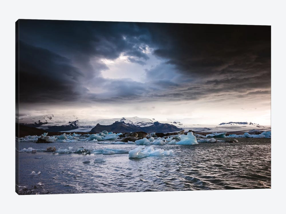 Stormy Weather Over Jokulsarlon, Iceland by Matteo Colombo 1-piece Canvas Print