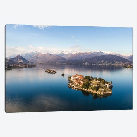 Sunset Over Isola Bella, Lake Maggiore, Italy Canvas Print #TEO167} by Matteo Colombo Canvas Art