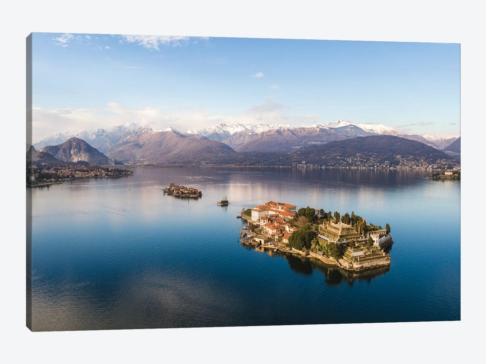 Sunset Over Isola Bella, Lake Maggiore, Italy by Matteo Colombo 1-piece Canvas Artwork