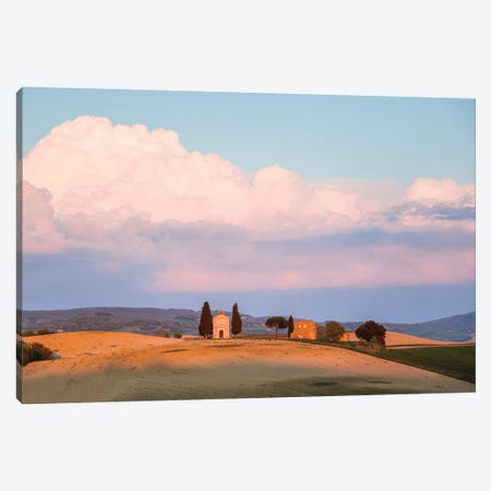 Sunset Over Vitaleta Chapel, Tuscany Canvas Print #TEO169} by Matteo Colombo Art Print