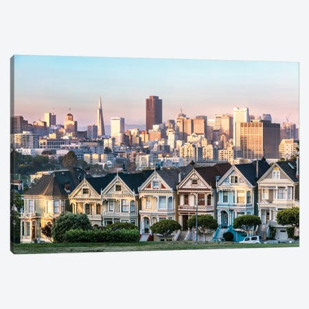 The Painted Ladies, San Francisco Canvas Print #TEO171} by Matteo Colombo Canvas Artwork