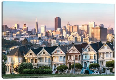 The Painted Ladies, San Francisco Canvas Art Print