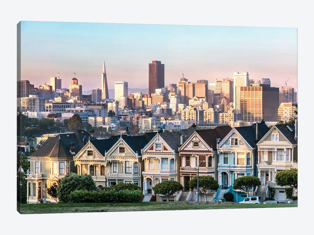 the painted ladies san francisco canvas art matteo colombo