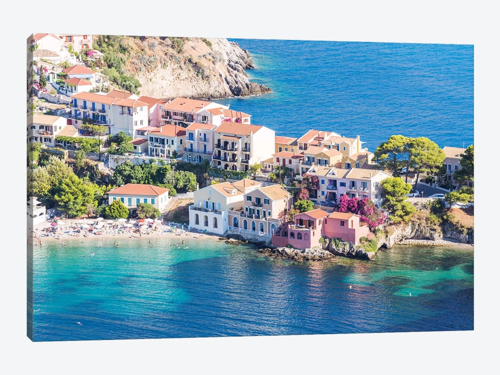 Town Of Assos In The Mediterranean Sea, Greece by Matteo Colombo 1-piece Canvas Art Print