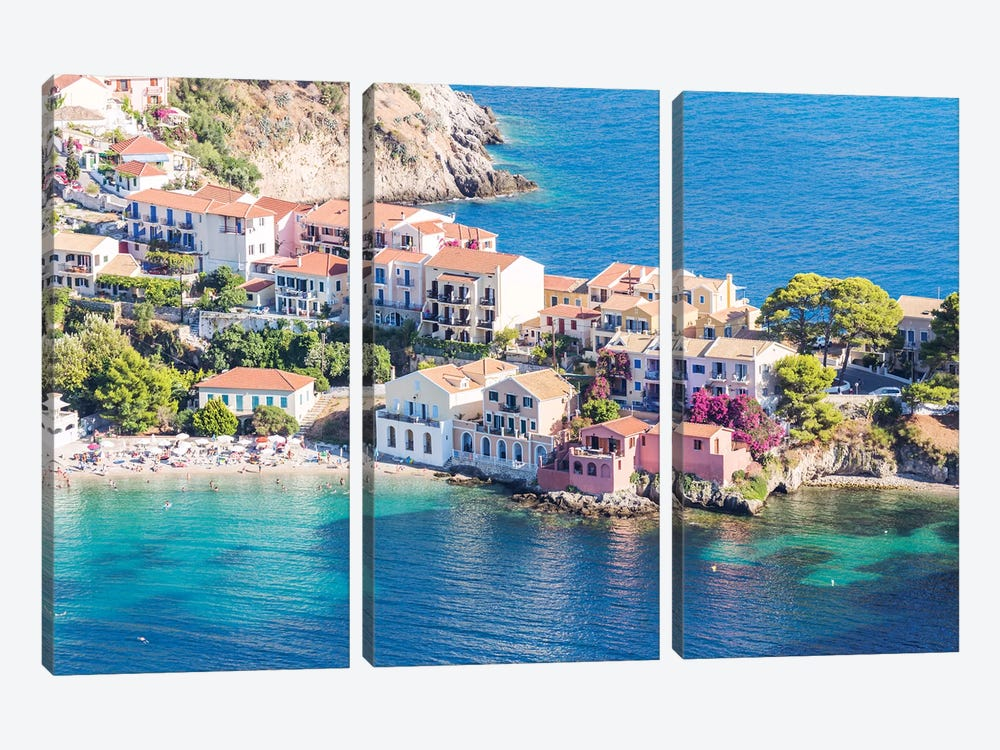 Town Of Assos In The Mediterranean Sea, Greece by Matteo Colombo 3-piece Art Print