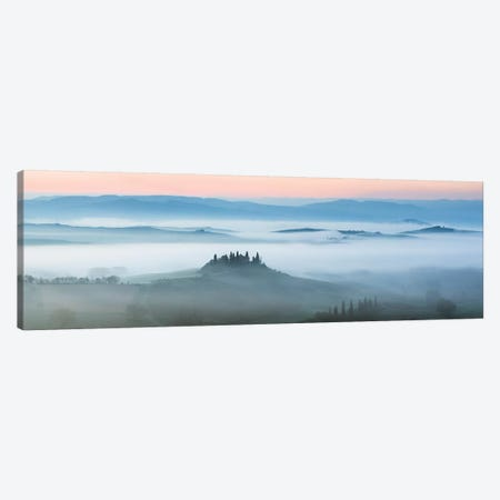 Val d'Orcia In The Mist, Tuscany, Italy Canvas Print #TEO174} by Matteo Colombo Canvas Art Print