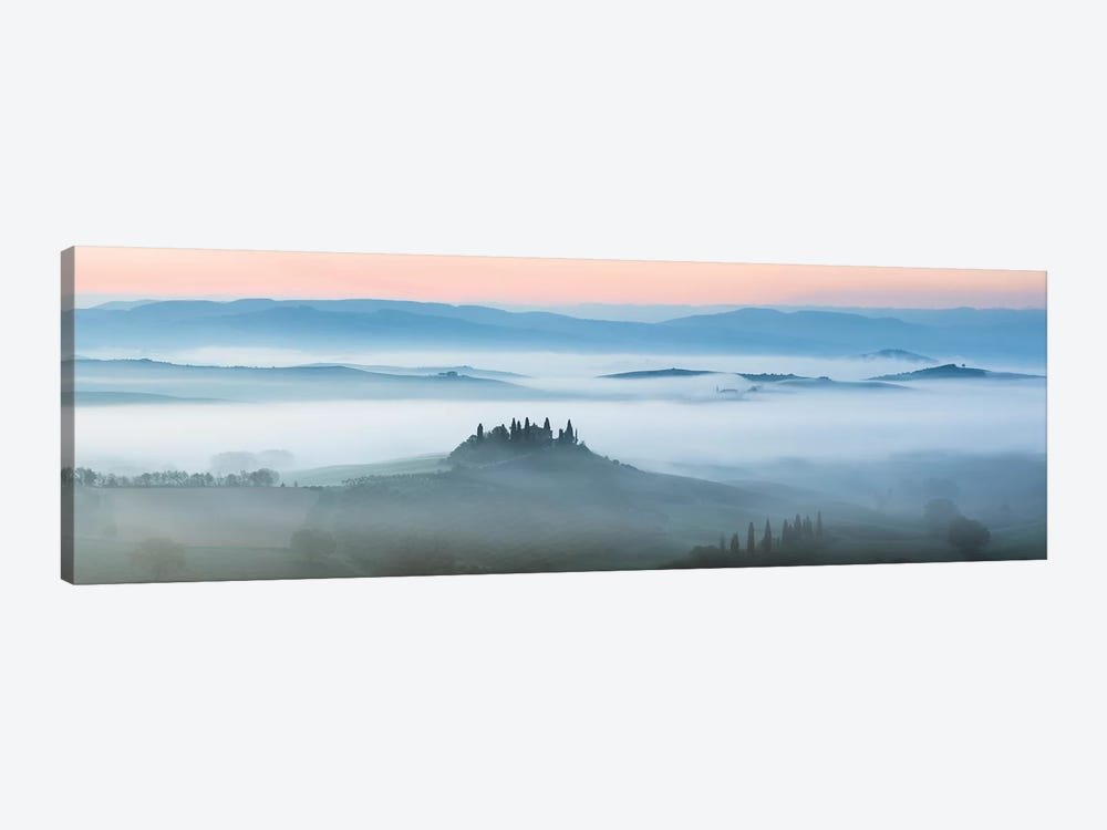 Val d'Orcia In The Mist, Tuscany, Italy by Matteo Colombo 1-piece Canvas Art
