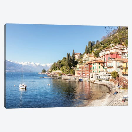 Varenna On Como Lake, Italy Canvas Print #TEO175} by Matteo Colombo Canvas Print
